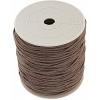 Cotton Wax Cord 1.5mm Round Light Brown
